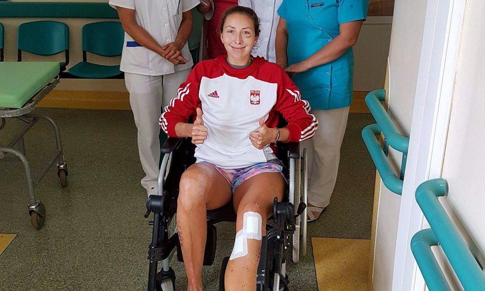 Anna Wierzbowska w szpitalu