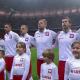 Reprezentacja Polski podczas hymnu