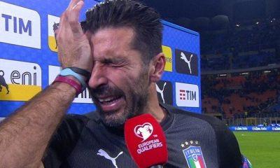 Reprezentacja Włoch w piłce nożnej przegrywa, Buffon płacze