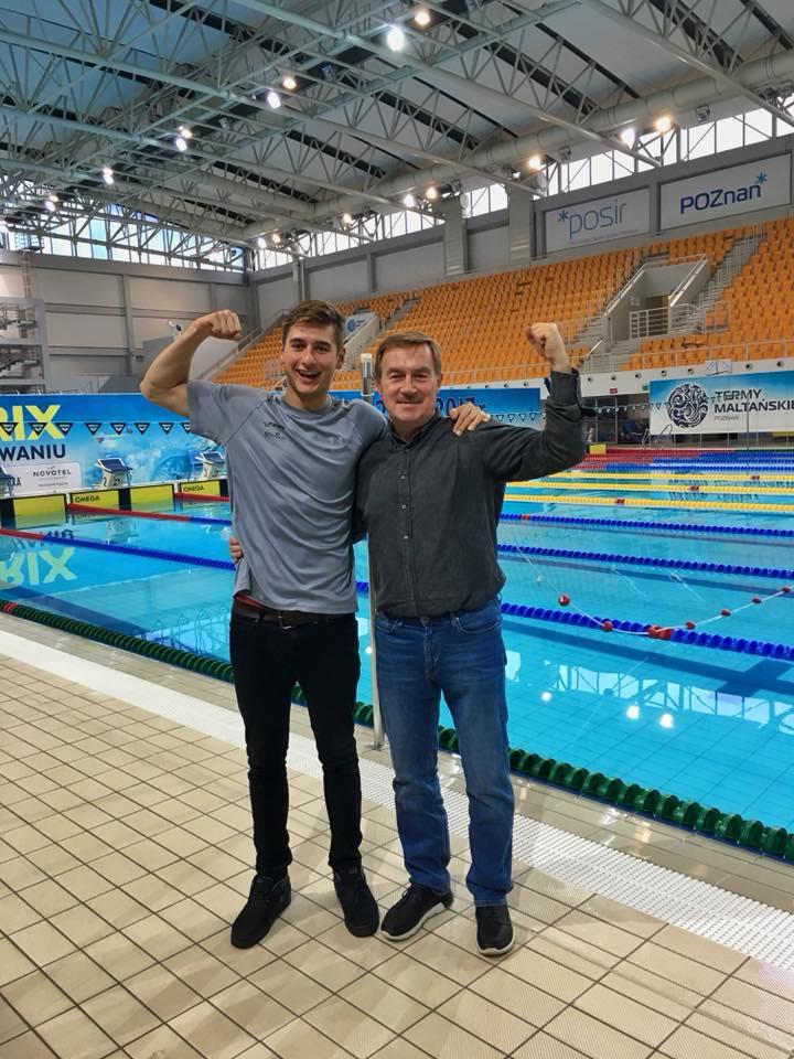 Filip Zaborowski z trenerem