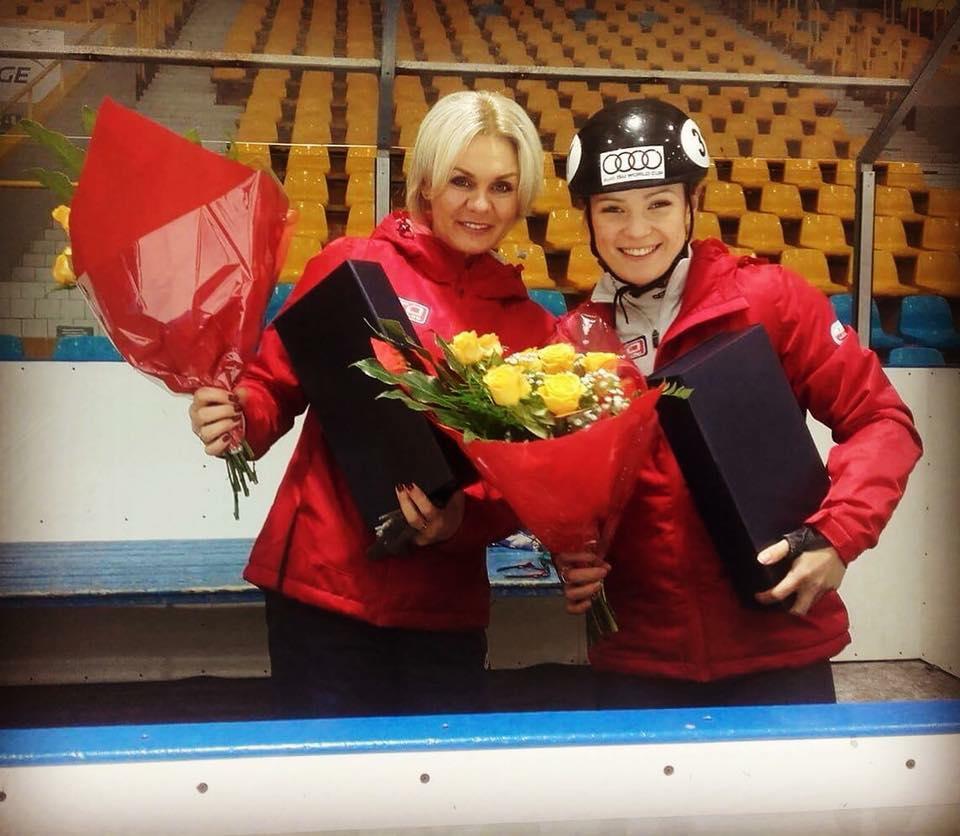 Magdalena Warakomska wraz z trenerką
