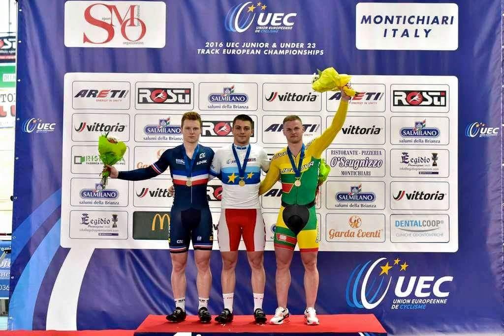 Mateusz Rudyk na podium
