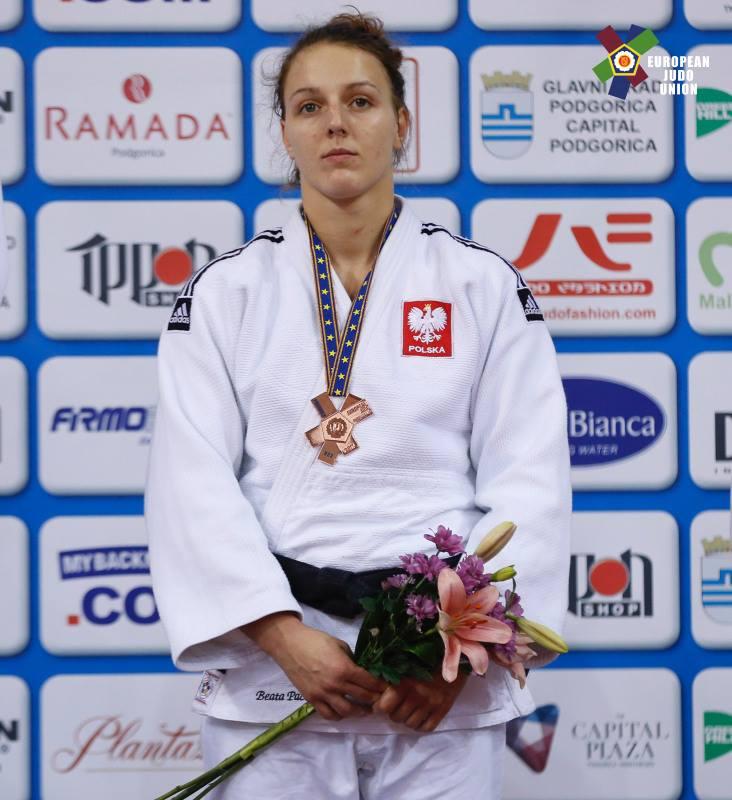 Beata Pacut na podium