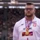 Paweł Fajdek na podium mistrzostw Europy