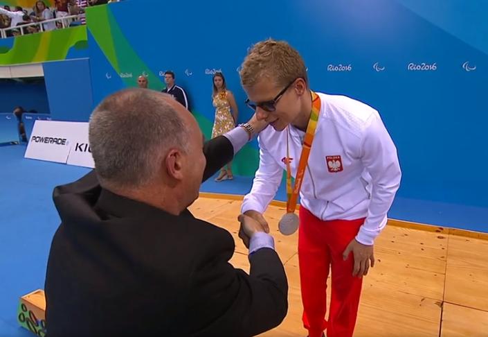 Wojciech Makowski na podium