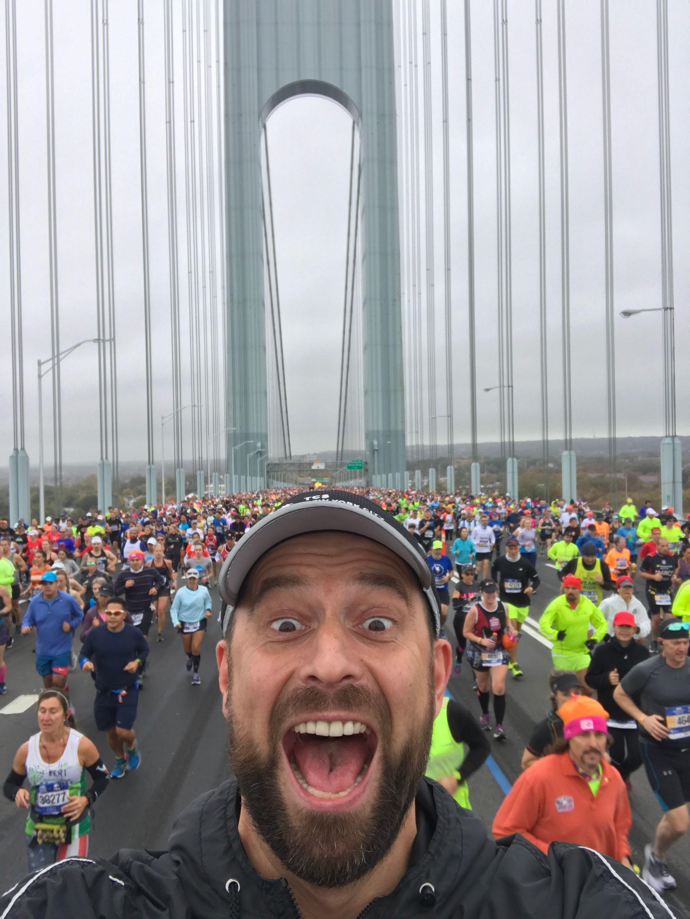 Robert Motyka podczas maratonu