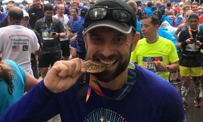 Robert Motyka po maratonie