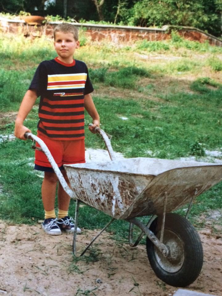 Wojciech Makowski w dzieciństwie