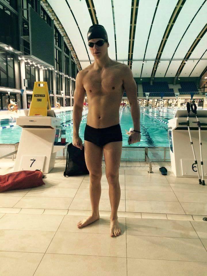 Wojciech Makowski na treningu