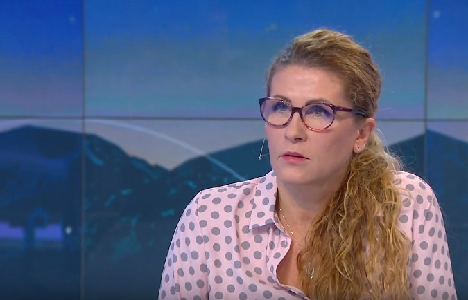 Bernadeta Piotrowska jako komentatorka TVP