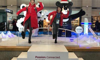 Natalia Kaliszek i Maksym Spodyriew w wiosce olimpijskiej