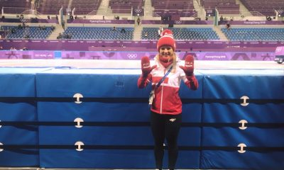 Magdalena Warakomska na torze olimpijskim