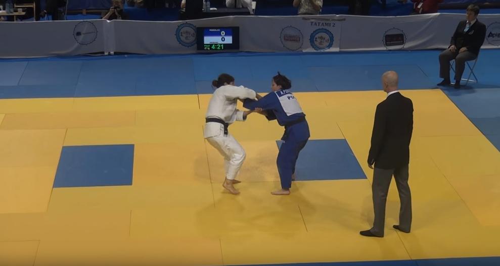 Agata Perenc podczas walki