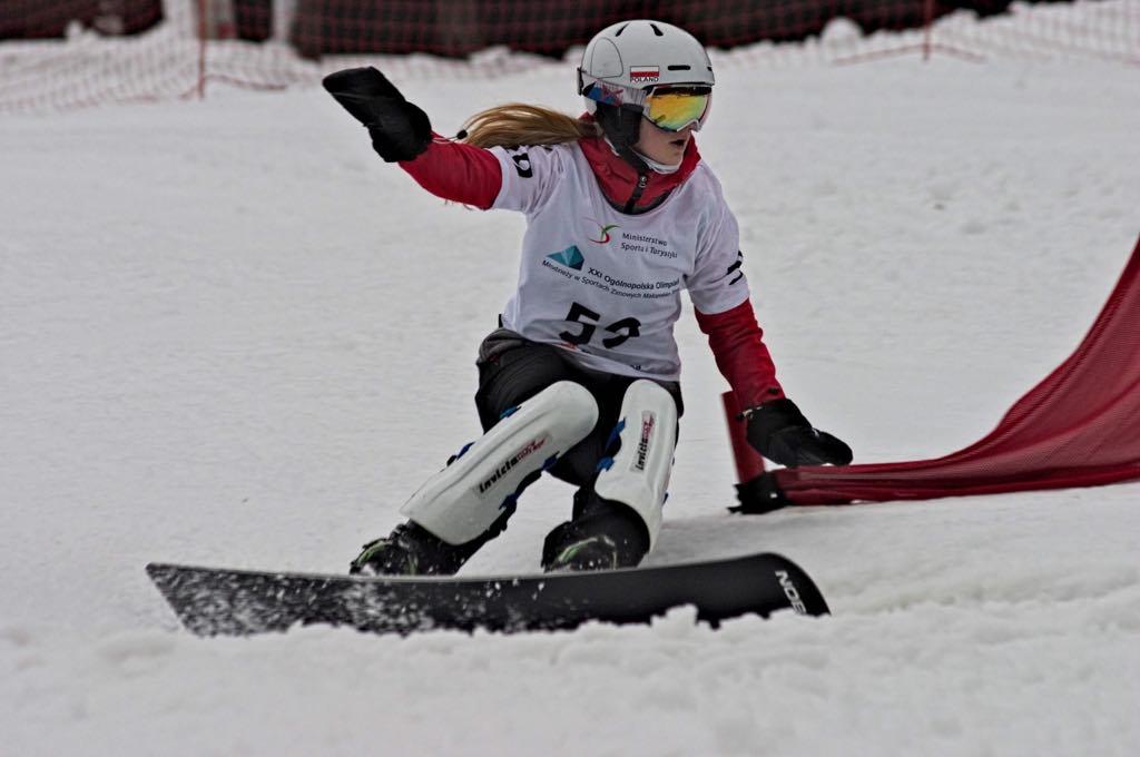Aleksandra Michalik na śniegu