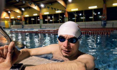 Jacek Czech w wodzie