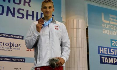 Jan Kałusowski z medalem