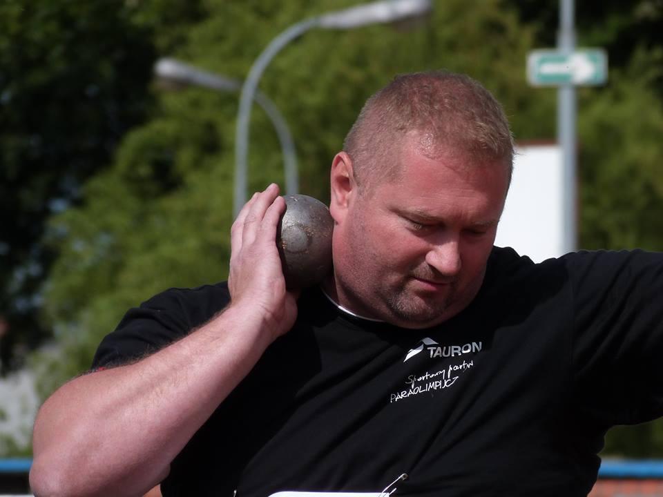 Janusz Rokicki w trakcie zawodów