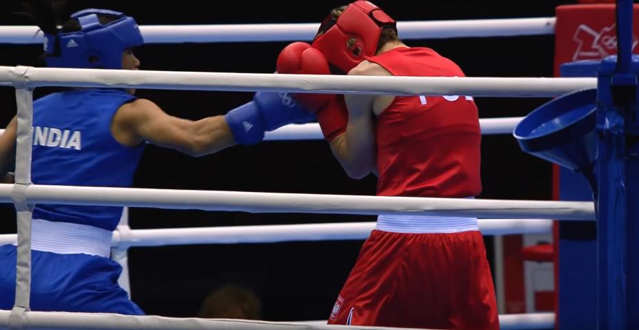 Karolina Michalczuk w trakcie walki