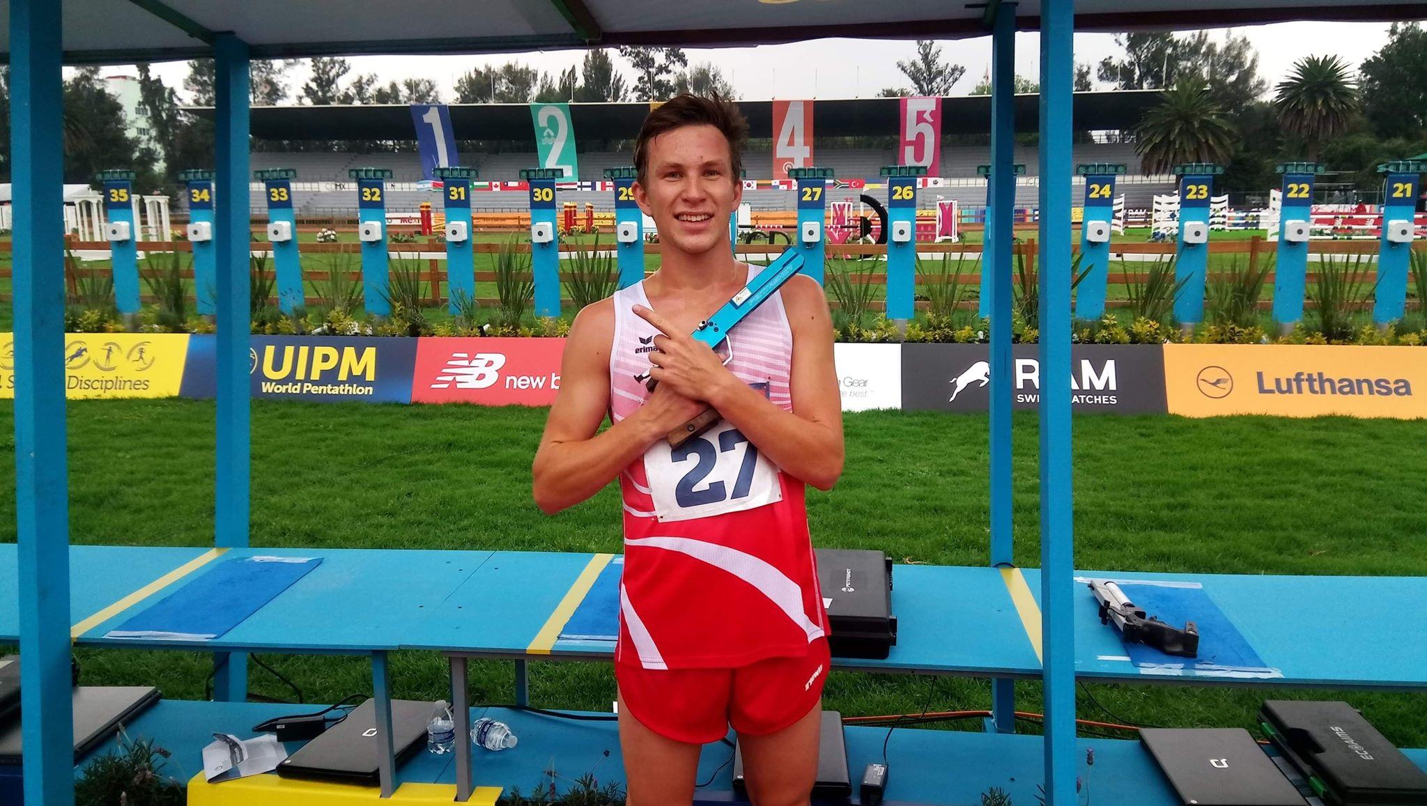 Łukasz Gutkowski w trakcie zmagań w Meksyku