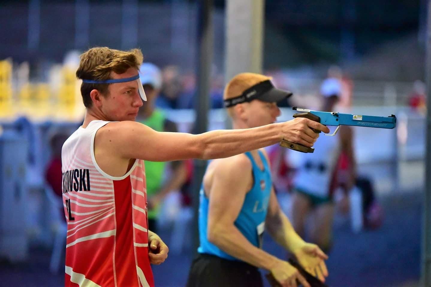 Łukasz Gutkowski na strzelnicy