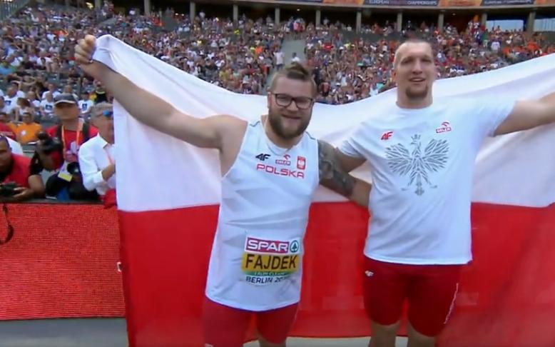 Wojciech Nowicki i Paweł Fajdek celebrują sukces