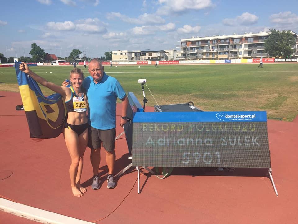Adrianna Sułek na mistrzostwach Polski