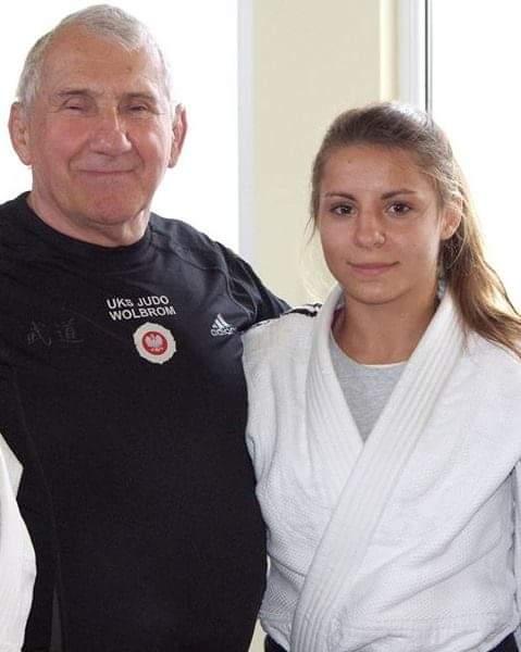Aleksandra Kaleta i trener