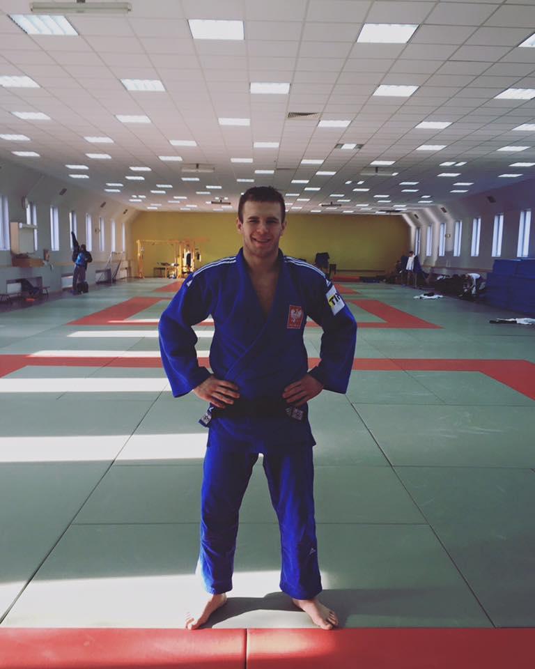 Damian Szwarnowiecki na treningu