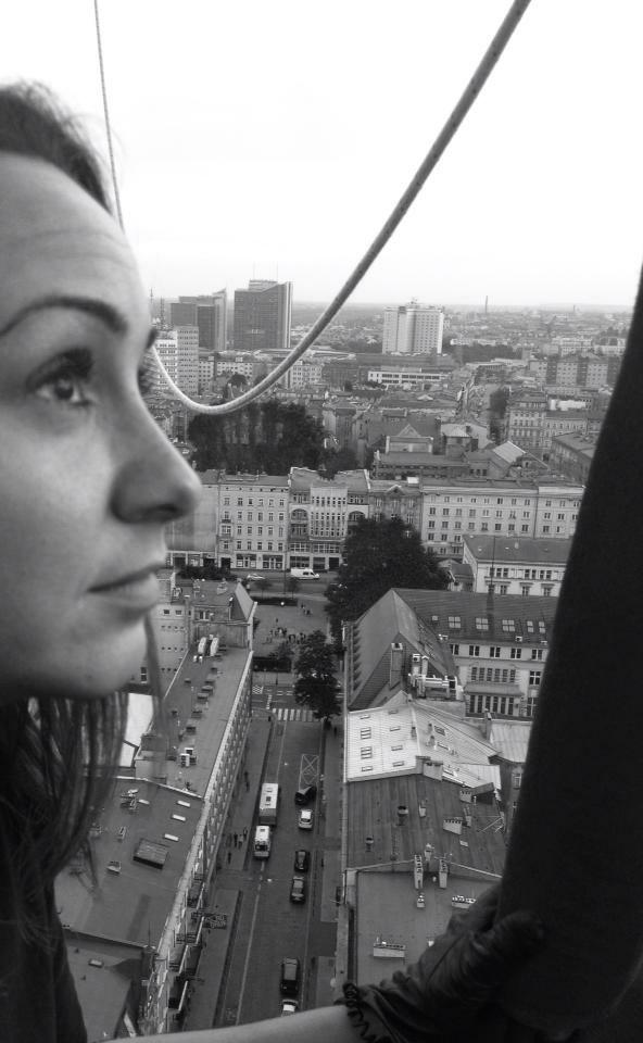 Daria Dudkiewicz-Goławska podczas lotu