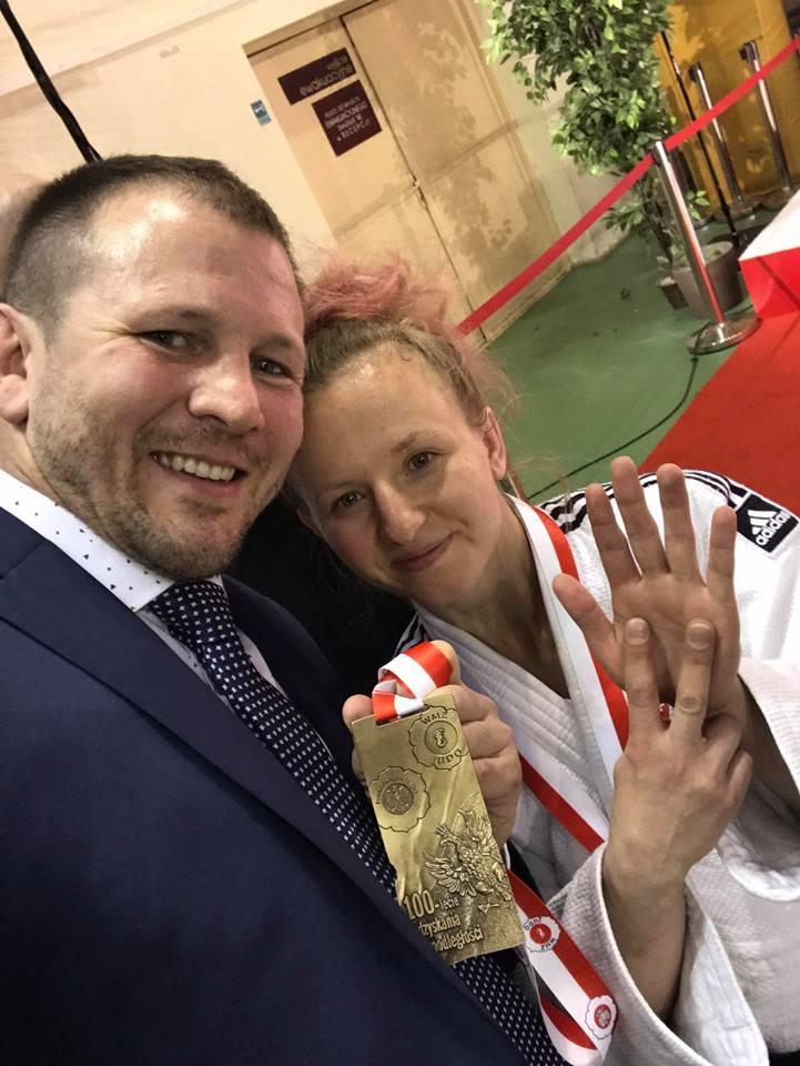 Ewa Konieczny wraz z trenerem
