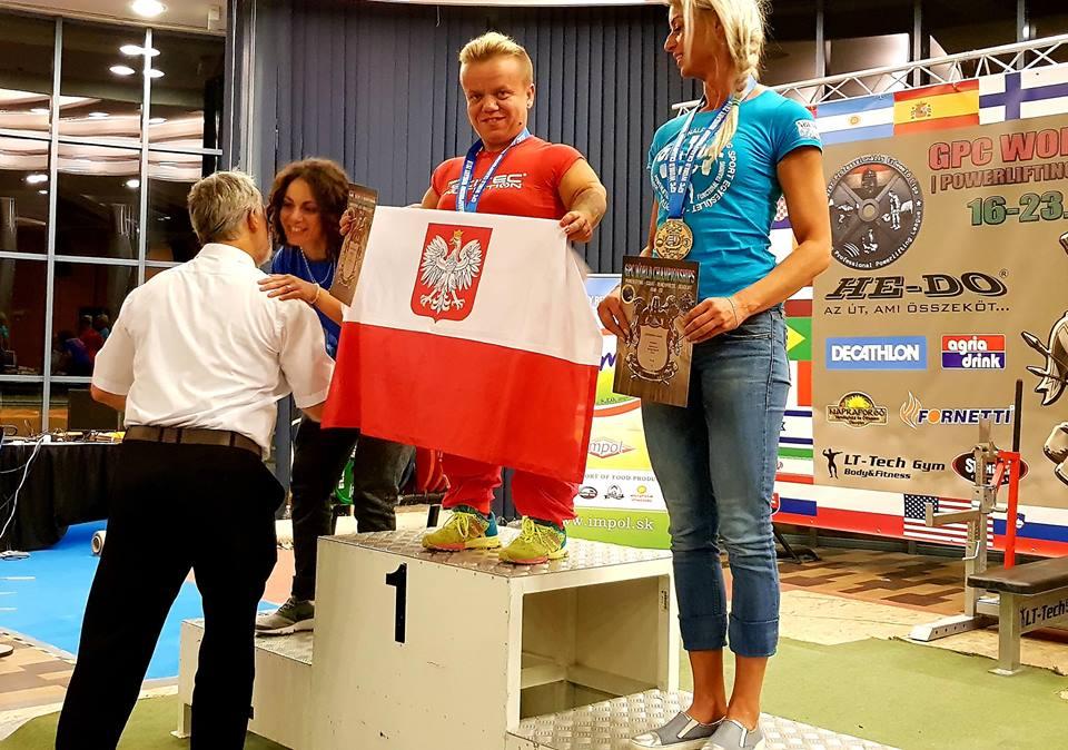 Małgorzata Hałas na podium