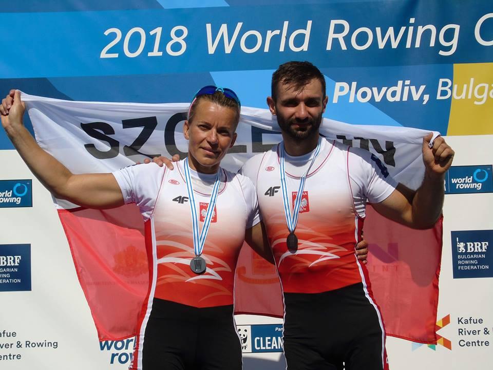 Jolanta Majka i Michał Gadowski z medalami