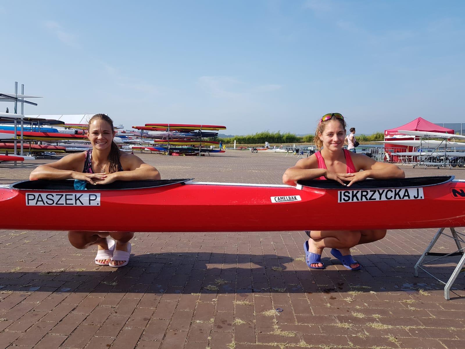 Justyna Iskrzycka oraz Paulina Paszek po treningu
