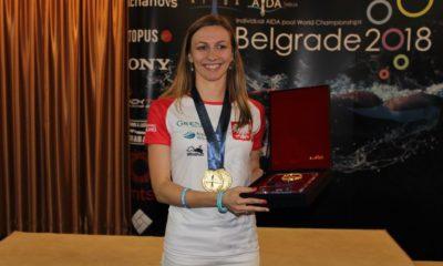 Magdalena Solich-Talanda na podium