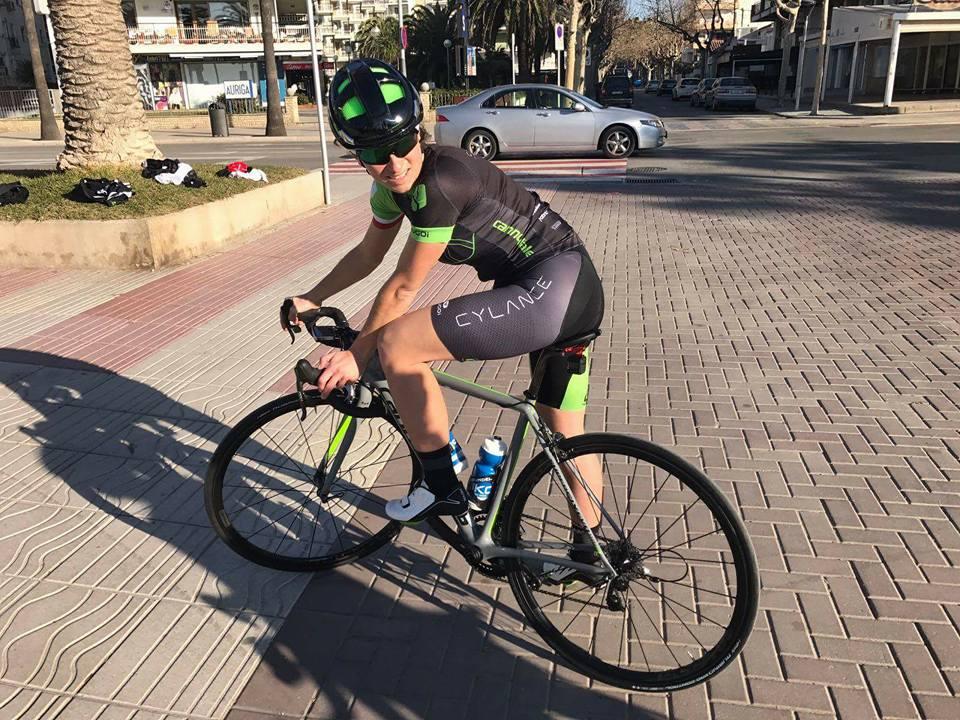 Małgorzata Jasińska na rowerze