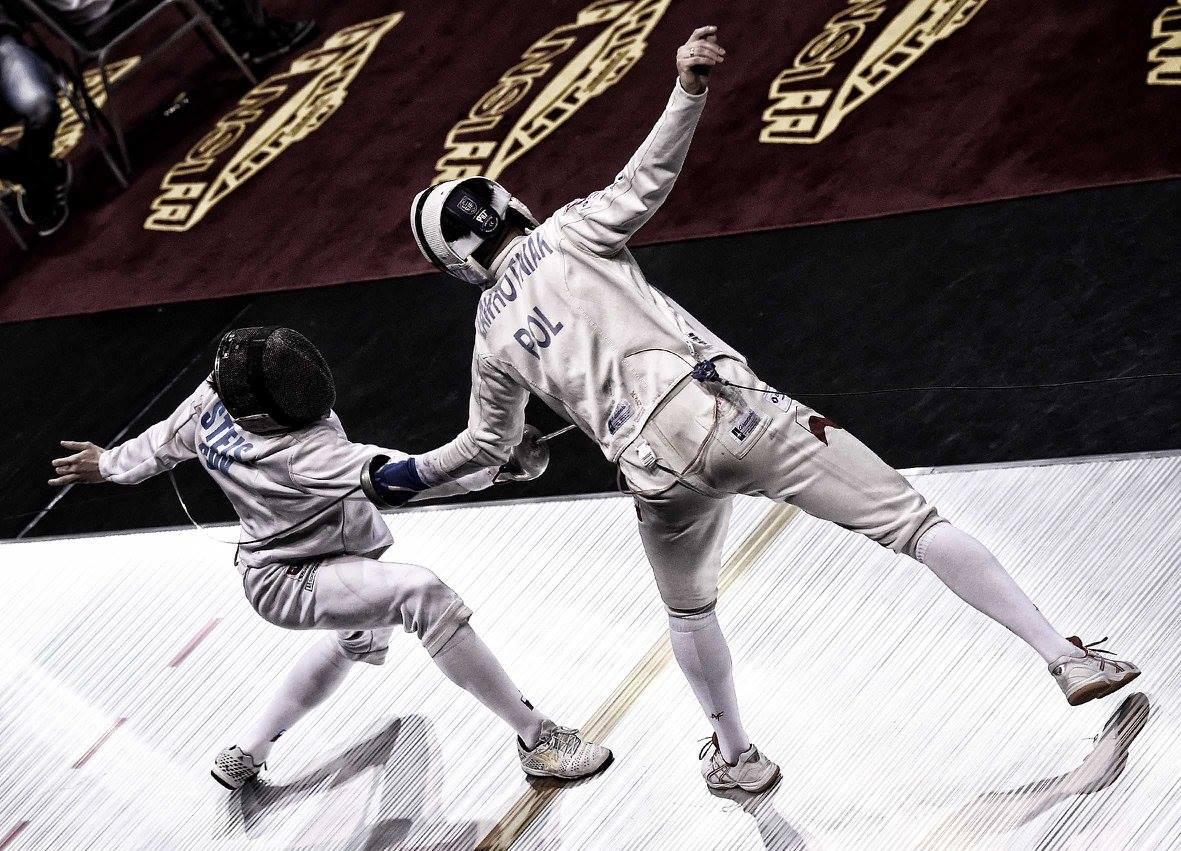 Radosław Zawrotniak w trakcie pojedynku