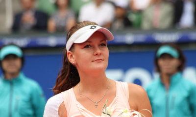 Agnieszka Radwańska na korcie