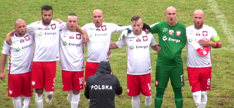 Reprezentacja polski w amp futbolu przed meczem