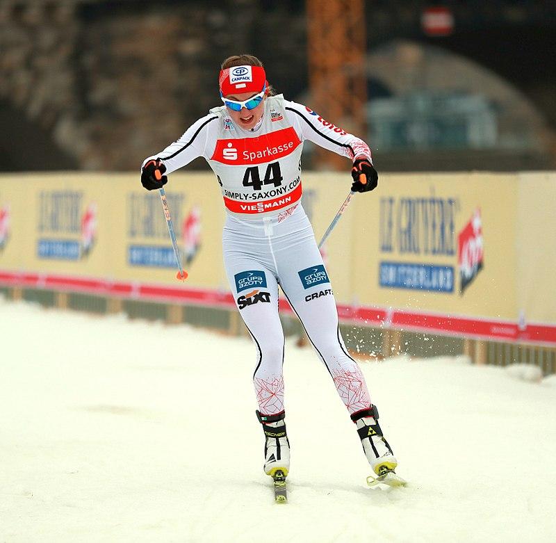 Urszula Łętocha podczas biegu