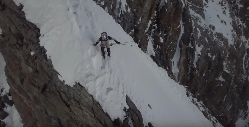 Andrzej Bargiel podczas zjazdu z K2
