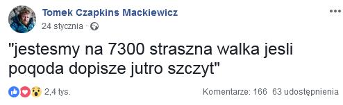 Tomasz Mackieiwcz Nanga Parbat