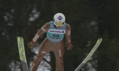 Kamil Stoch podczas zawodów w Engelbergu