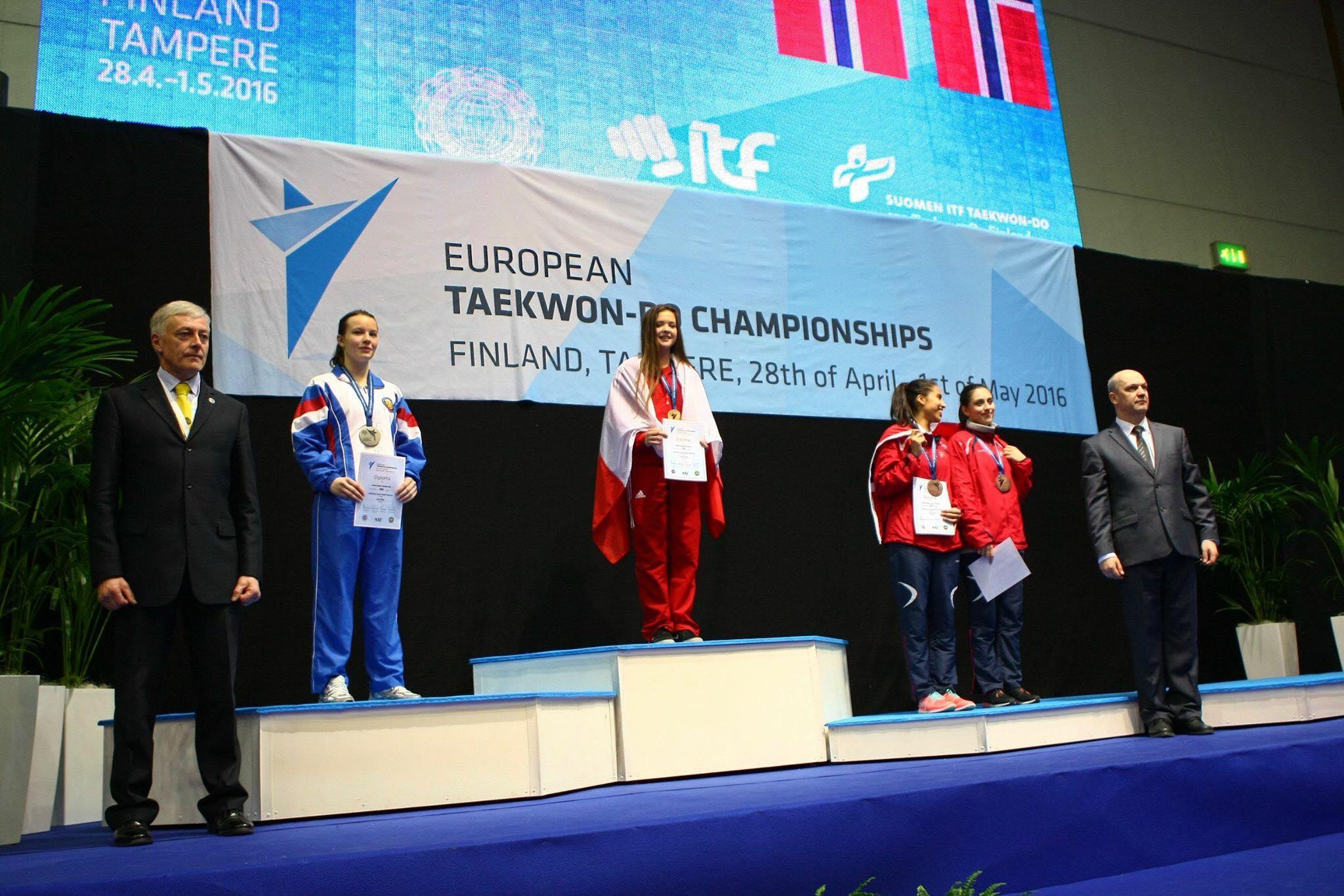 Kamila Kasprzak na podium