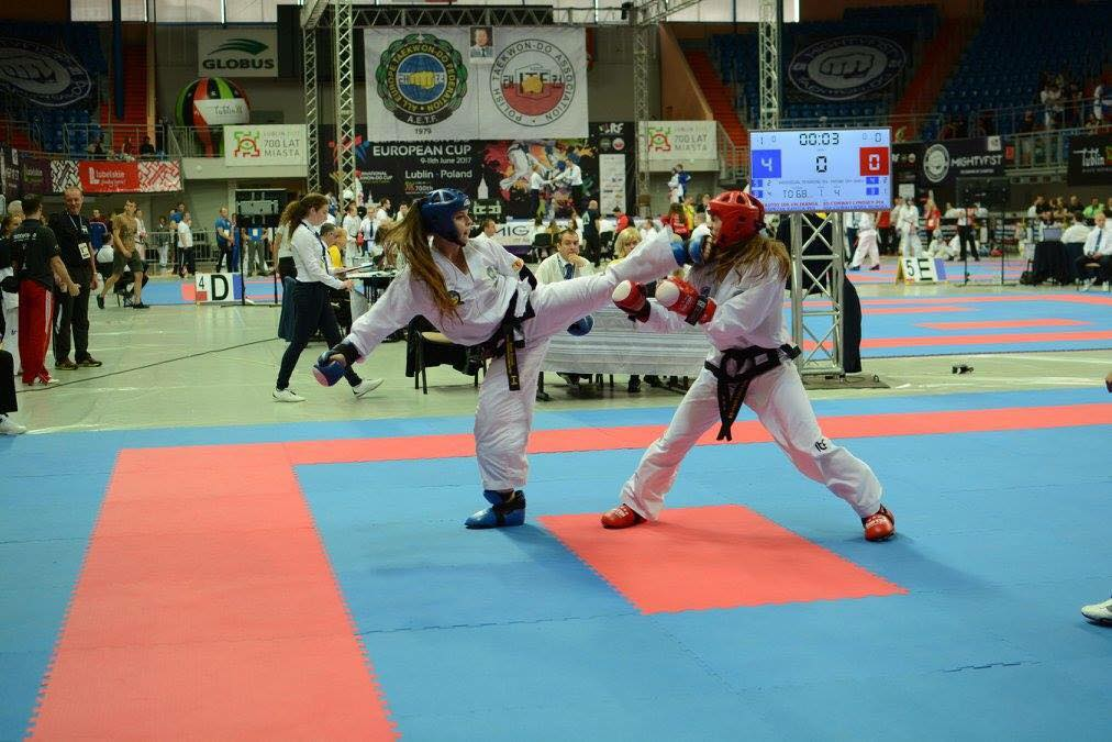 Kamila Kasprzak w trakcie walki