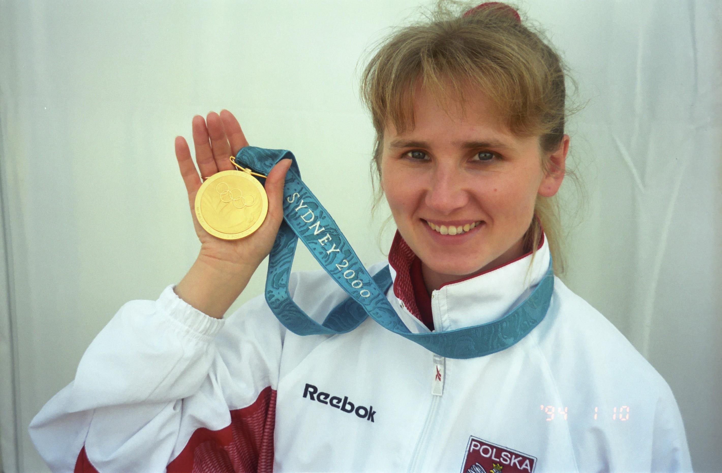 Renata Mauer-Różańska z medalem