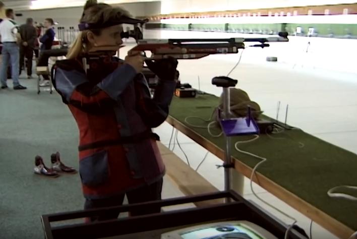Renata Mauer-Różańska na strzelnicy