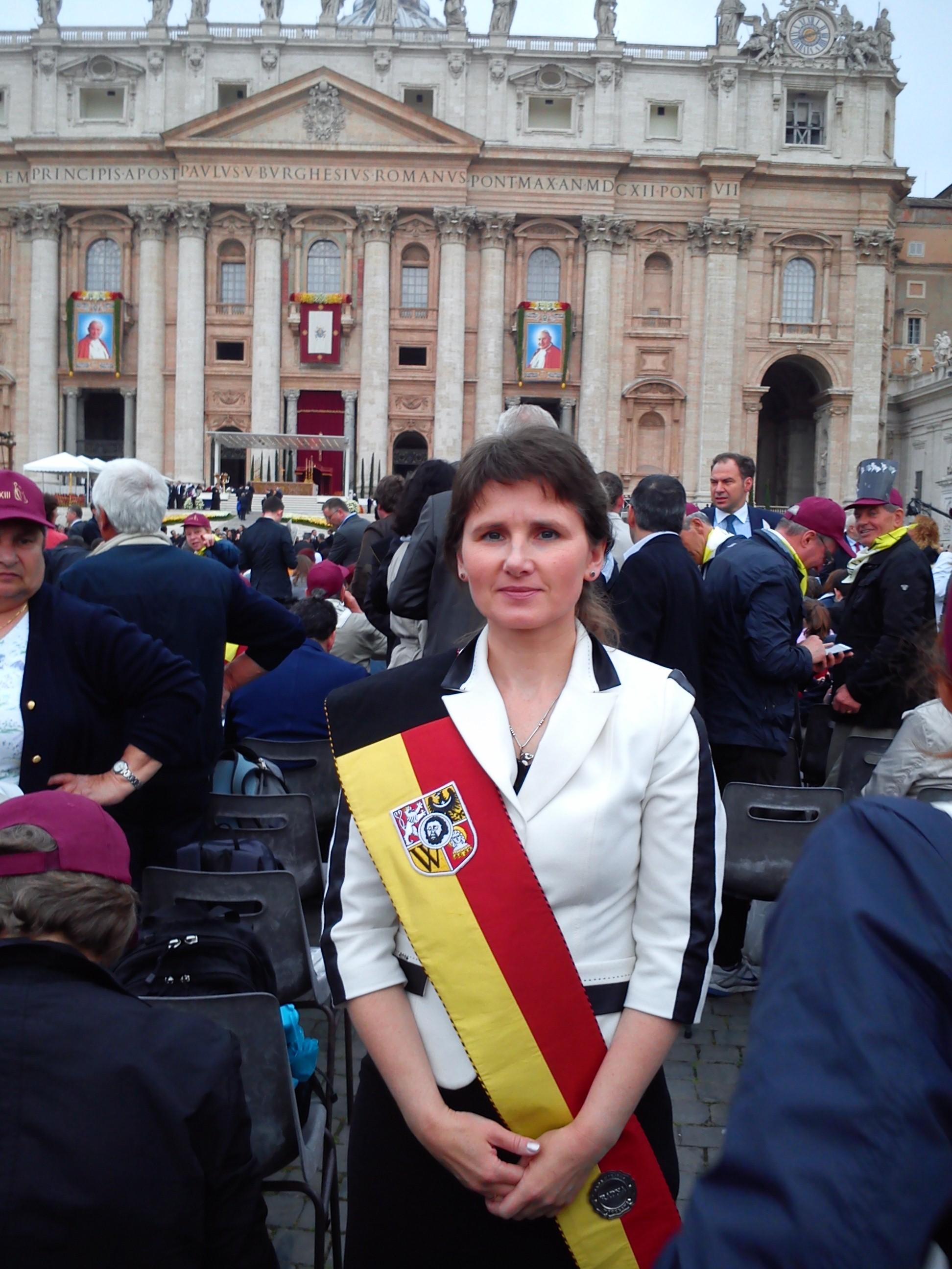 Renata Mauer-Różańska w Watykanie