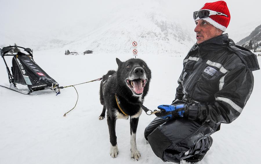 Waldemar Stawowczyk i jego pies