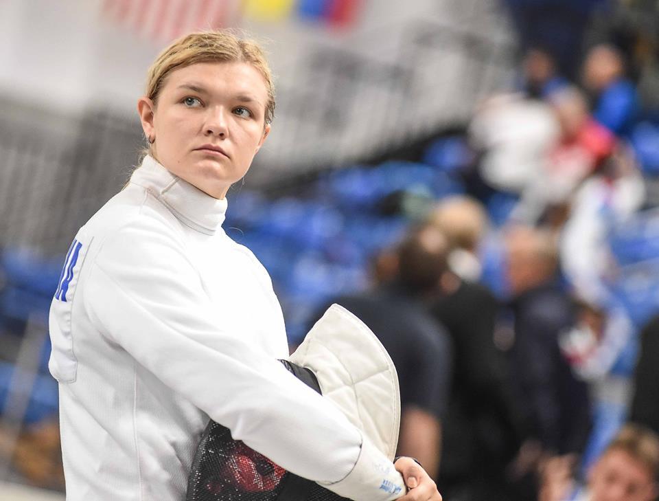 Aleksandra Zamachowska podczas zawodów