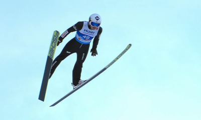 Kamil Stoch podczas skoku mistrzostwa świata